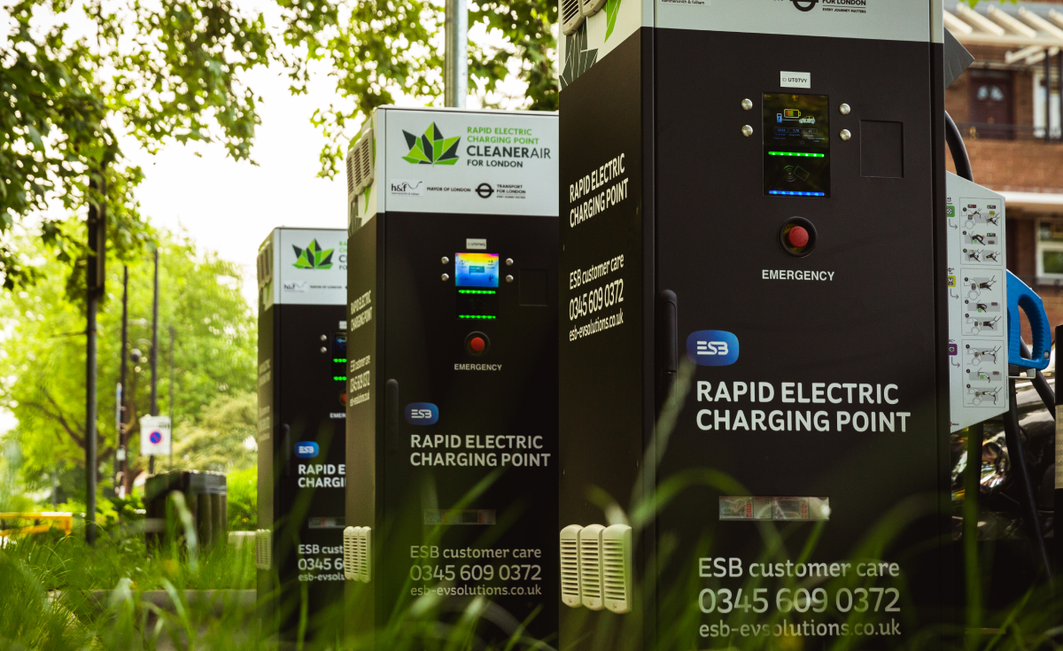 ESB Energy chargers in London