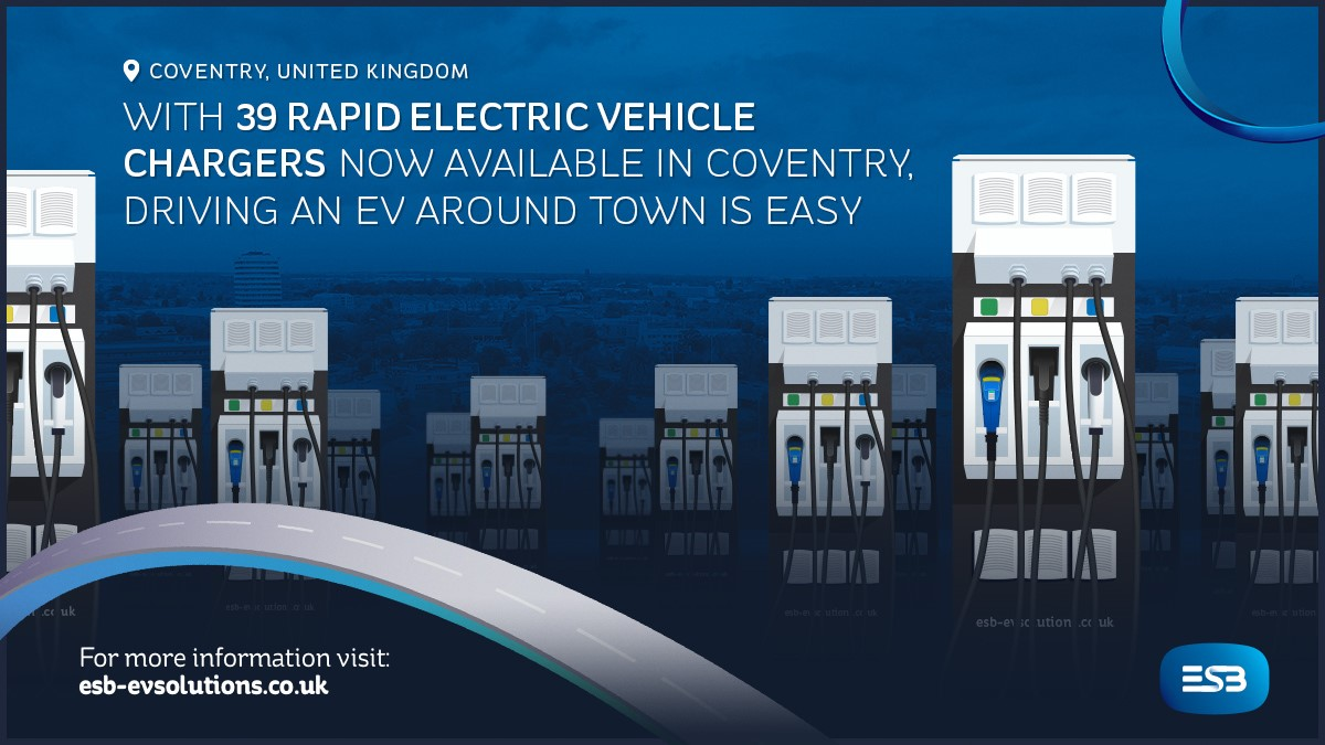 39 Rapid Chargers in Coventry